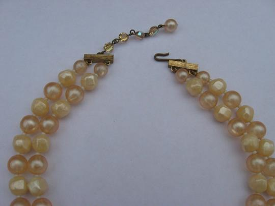 Other Vintage 1950s Two Strand Faux Pearl AB Aurora Borealis Bead Necklace