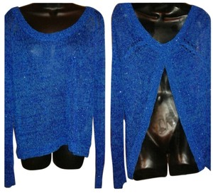 Uniqlo Sequin Knit Top Blue