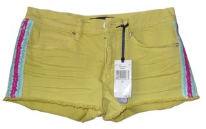 Juicy Couture Sequin Stretchy Mini/Short Shorts Yellow