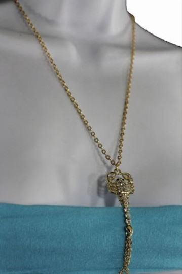 Other Women Gold Metal Body Thin Chain Fashion Jewelry Harness Scorpion Charm Necklace