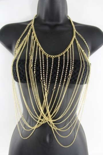 Preload https://img-static.tradesy.com/item/9970798/women-gold-metal-full-body-chains-rhinestones-fashion-jewelry-harness-necklace-0-0-540-540.jpg