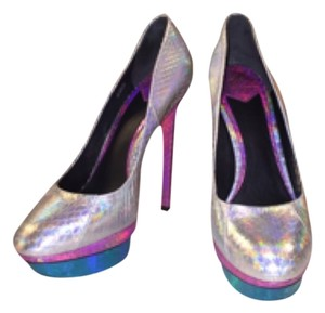 Brian Atwood Tri-Color Pumps