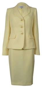 Le Suit LE SUIT NEW Womens Rose Garden Yellow Textured Skirt Suit 18. Ships in one day.