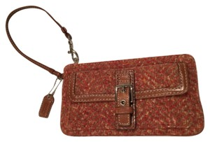 Coach Autum Accessory Gently Used Wristlet in Burnt Orange/Brown