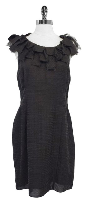 Preload https://item3.tradesy.com/images/adam-brown-wool-and-silk-sleeveless-mid-length-short-casual-dress-size-12-l-9971272-0-1.jpg?width=400&height=650