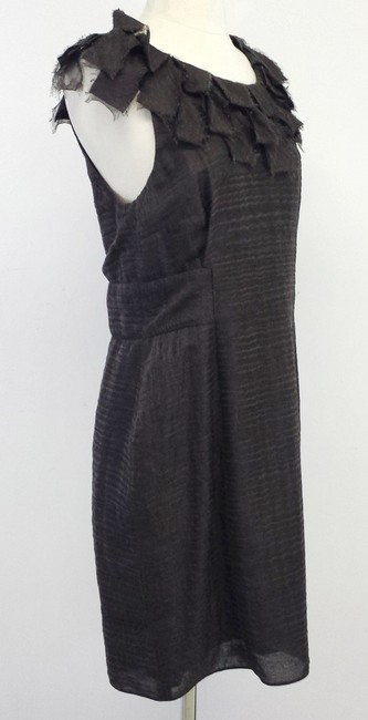ADAM short dress Brown Wool Silk Sleeveless on Tradesy