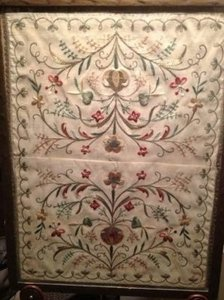 18th Century Silk Embroidery Dutch-style-pennsylvania