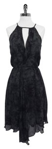 Corey Lynn Calter Grey Black Print Sleeveless Dress