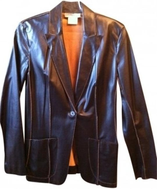 Vertigo Paris Black With Tan Accents Stunner Blazer Size 4 (S) Vertigo Paris Black With Tan Accents Stunner Blazer Size 4 (S) Image 1