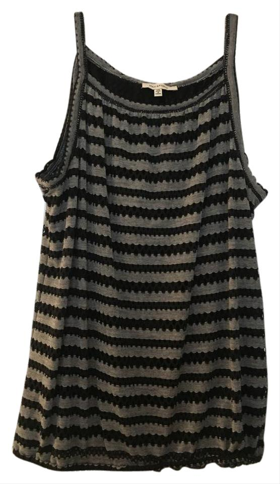 9f1a4a4f5a0001 Max Studio Black Stripe Bubble White Tank Top Cami Size 2 (XS) - Tradesy