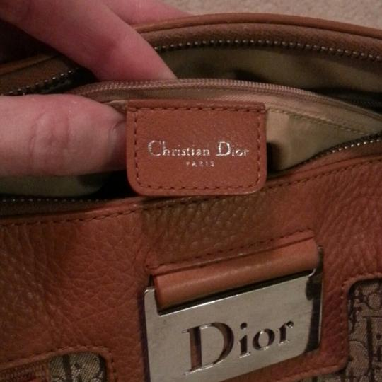 Christian Dior Monogram Jacquard Leather Tote in Cognac