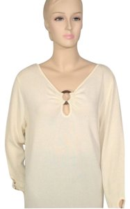 Dana Buchman Stretch Ring Top Cream