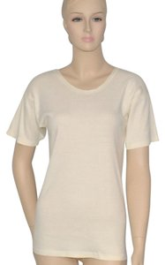 Karen Kane Summer Cotton T Shirt Cream