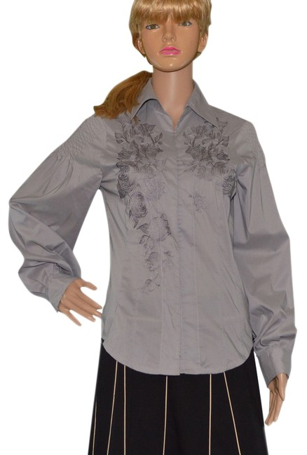 Preload https://item2.tradesy.com/images/gray-button-down-top-size-6-s-997671-0-0.jpg?width=400&height=650