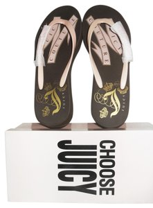 Juicy Couture ALVA PINK / GOLD GRAPHICS Sandals