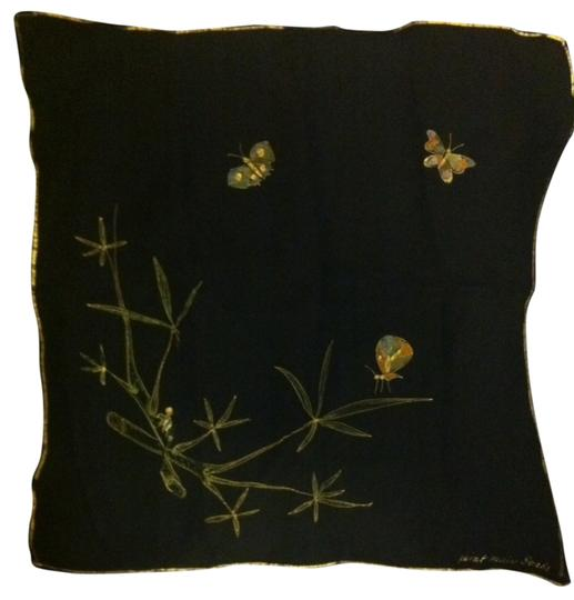 """Other Hand-painted 16"""" Silk Scarf"""