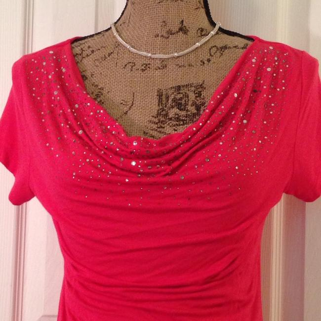 INC International Concepts Top Bright Pink