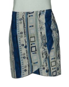 My Michelle Wrap Sarong Skirt Blue, Beige, Green