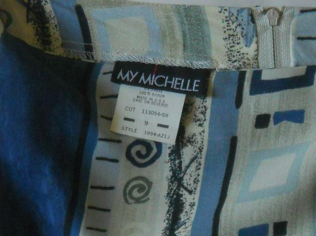 My Michelle My Wrap Sarong Skirt Blue, Beige, Green