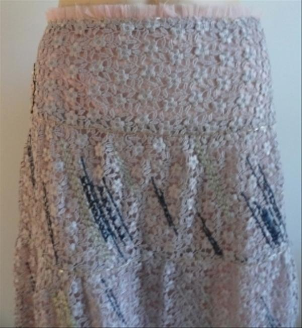 Other Lace Beaded Embellished Skirt Pink