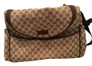 Gucci Beige And brown Diaper Bag