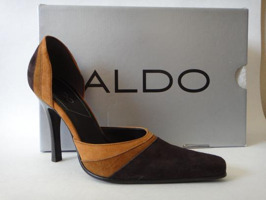 ALDO Suede Leather Multi-Mocca/Cocoa/Starke Gazele Pumps