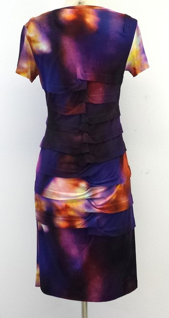 Nicole Miller short dress Multi Color Print Tiered on Tradesy