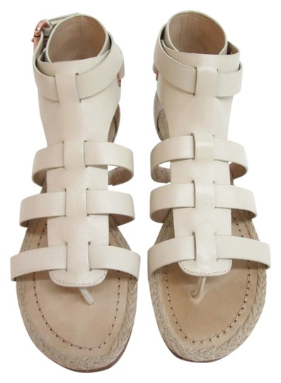 Belle by Sigerson Morrison New York Rose Gold Leather Ivory Sandals