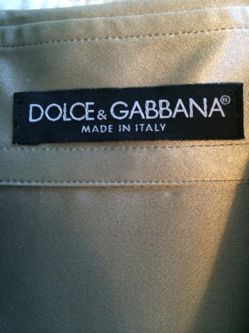 Dolce&Gabbana Silk Metallic Top Silver