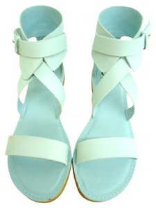 Kelsi Dagger Leather Soft Aqua Sandals
