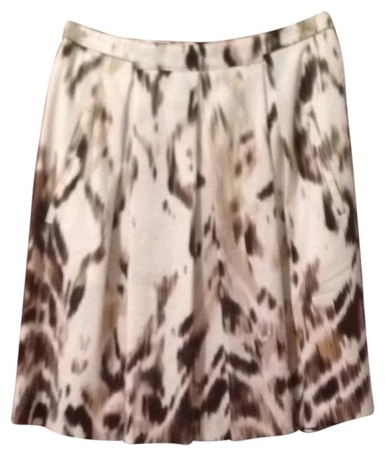 Elie Tahari Skirt Cream/brown
