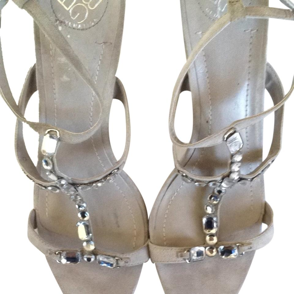 BCBGeneration Taupe Suede Strappy Bcbg Crystals Strappy Suede Formal Shoes 773ffc