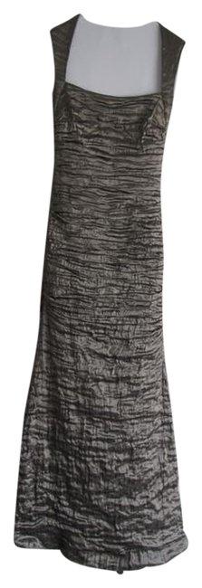 Item - Metallic Olive/Bronze Ruched Stretch Evening Gown Long Formal Dress Size 10 (M)