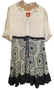 Free People short dress White Lace/Pattern on Tradesy