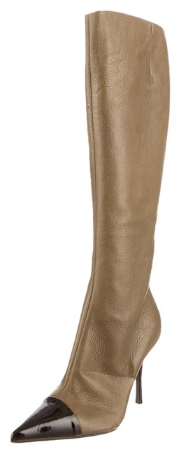 Item - Olive Leather Knee-high Boots/Booties Size US 9 Regular (M, B)