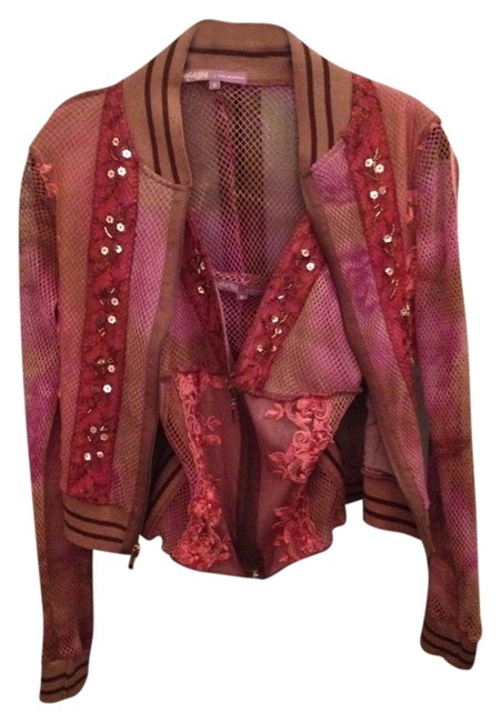 Item - Purple and Brown Sweater Tank Blouse Small Sweatshirt/Hoodie Size 6 (S)