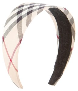 Burberry Brown, black multicolor Nova Check plaid Burberry wide headband New