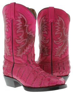 EL PRESIDENTE BOOT COMPANY Exotic Leather Handmade Quality pink, fuscia Boots