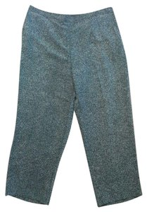 Alfred Dunner Elastic Waist Textured Casual Tweed Plus-size 22w Straight Pants Black & white