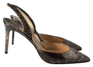 Manolo Blahnik Gun metal Pumps