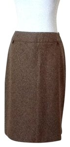 Ann Taylor LOFT Tweed Skirt Tweed brown