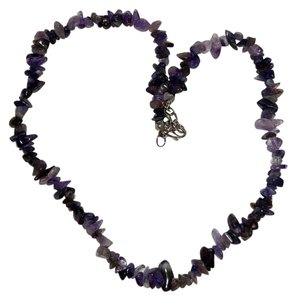 Amethyst Chips Handmade Stone Necklace