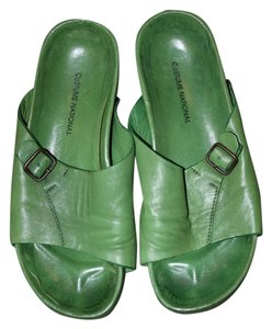 CoSTUME NATIONAL Classic Exclusive Kelly Green Leather Sandals