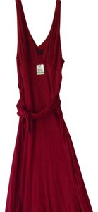 BCBGMAXAZRIA short dress Red Cayenne Bcbg Max Azria Red Sleeveless on Tradesy
