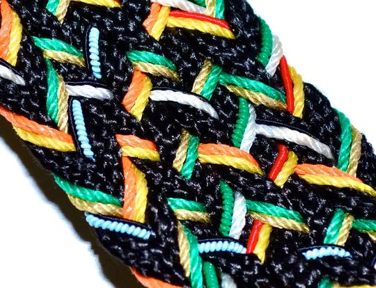 Vintage Vintage 80s Woven ETHNIC BELT from Uruguay South America Fabric & Leather BELT Waist Size 25 26 27 28 29 30 31 32