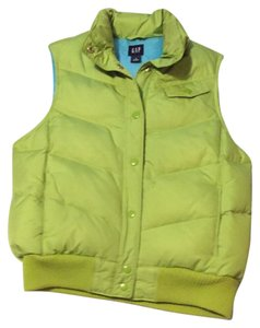 Gap Down Green Coat Ski Vest