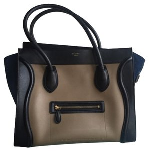 Céline Tote in Black Blue Tan
