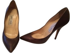 Jimmy Choo Bronze/Brown Pumps