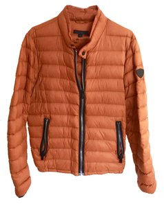 Guess Goose Down Moncler Givenchy Orange and Black Jacket