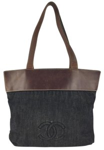 Chanel Travel Leather Tote in Denim